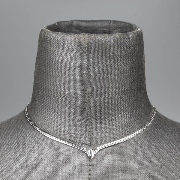 The Chevron Collar - Silver