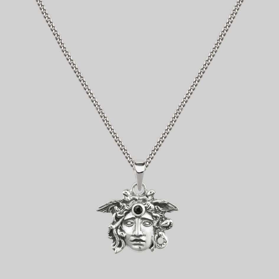 mens medusa gemstone chain