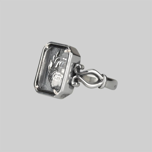 Heart Anatomy silver ring