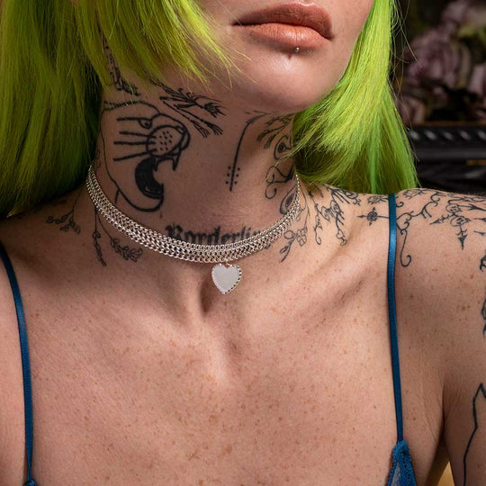 The Lonely Hearts Club Choker - Silver