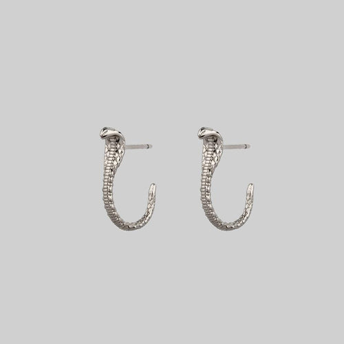 PURITY. Daisy Chain Hoop Earrings - Silver