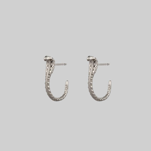 OPHIDIA. Mini Serpent Earrings - Silver