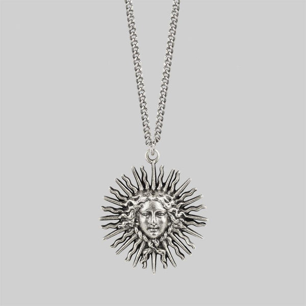 SOL INVICTUS. Sun Goddess Necklace - Silver