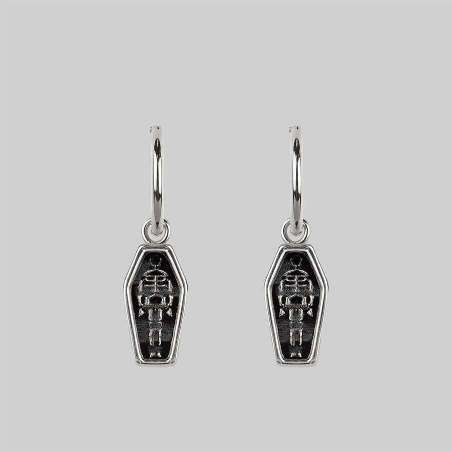 Silver skeleton earrings