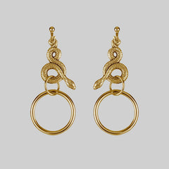 MERYLL. Snake Wrap Ring Earrings - Gold