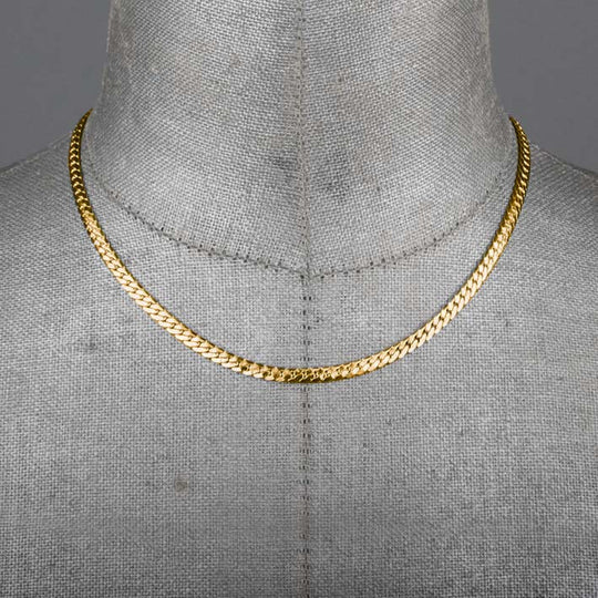 Medium Snake Chain Collar - Gold