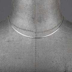 fine silver snake chain