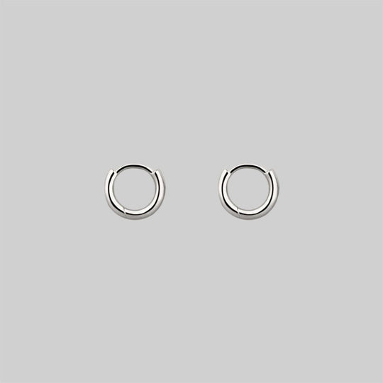Simple Silver Clicker Hoop Earrings - 10mm