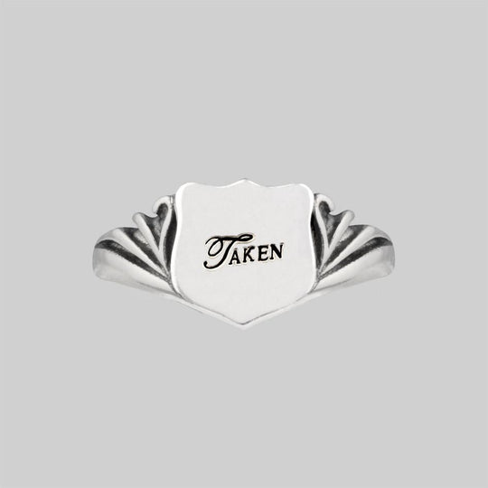 TAKEN. Shield Signet Ring - Silver