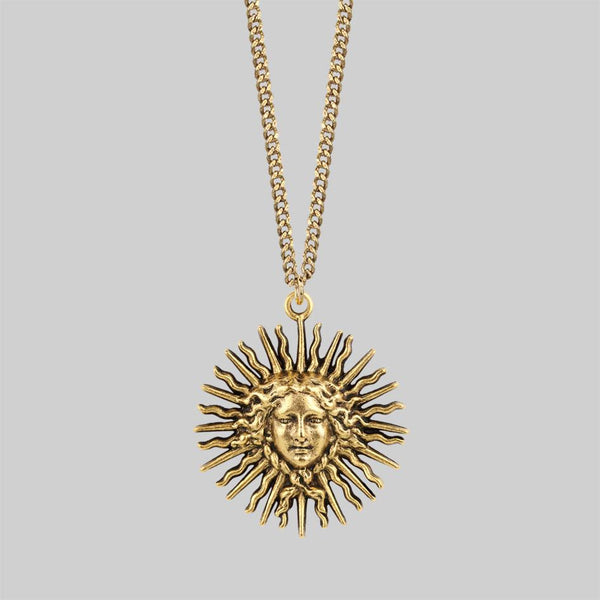 SOL INVICTUS. Sun Goddess Necklace - Gold