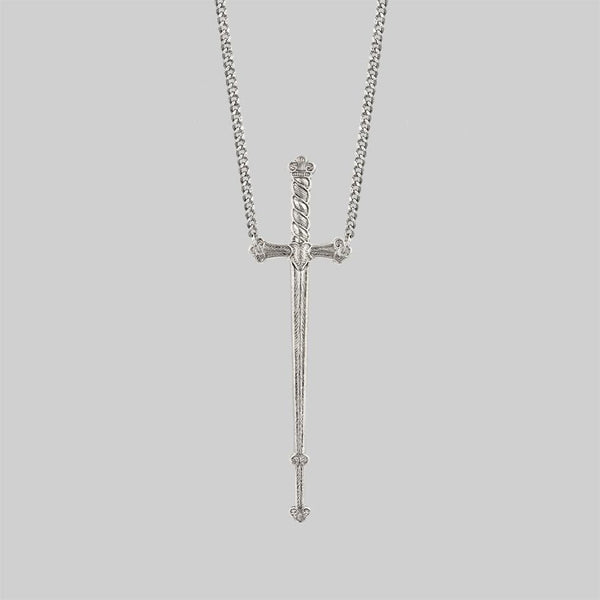 MERCY. Sword Necklace - Silver
