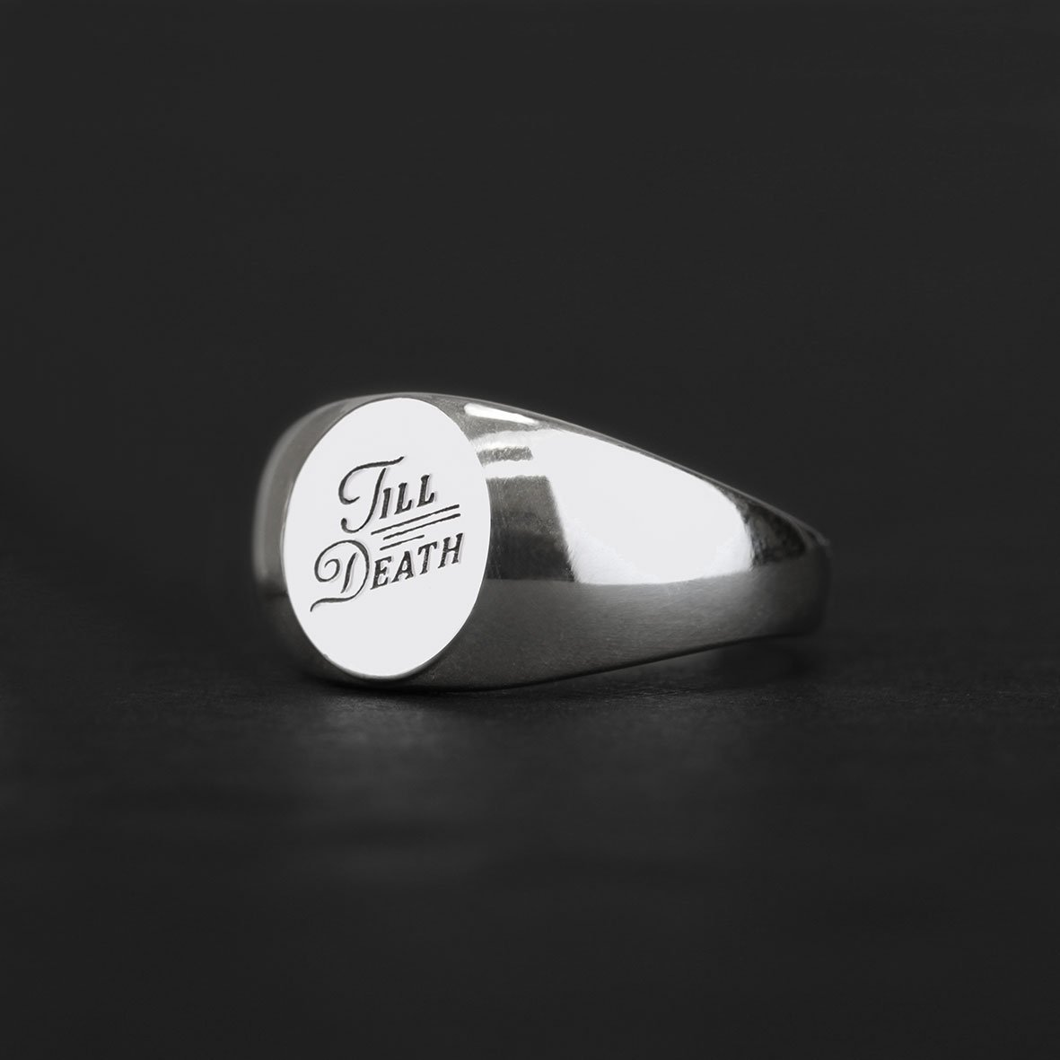 TILL DEATH. Promise Signet Ring
