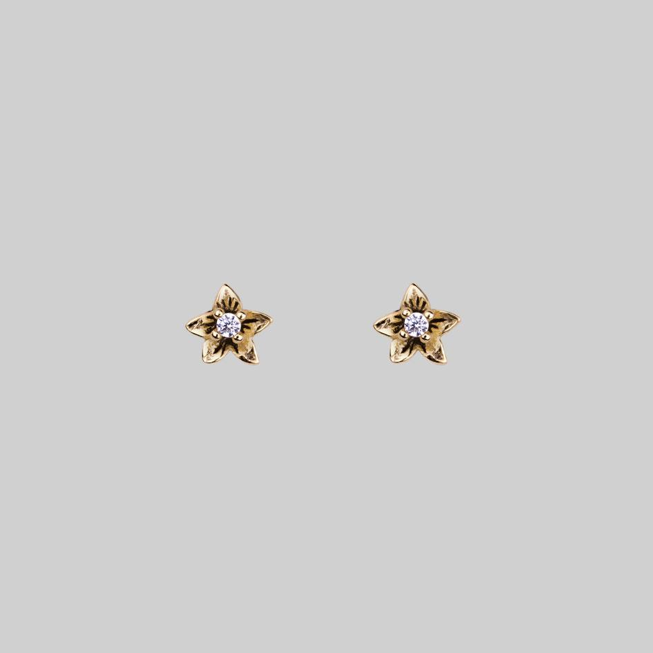 gold earrings stud pin tiny
