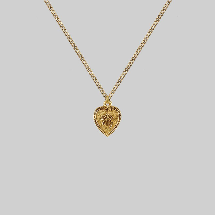 gold heart layering necklace