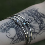 Bracelet - SEA GYPSY. Mother Of Pearl Silver Bangle
