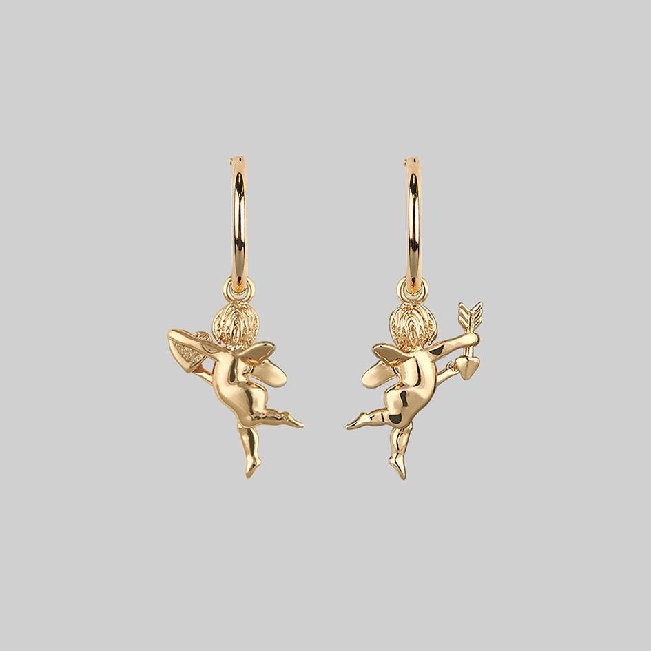 cherub-earrings-gold