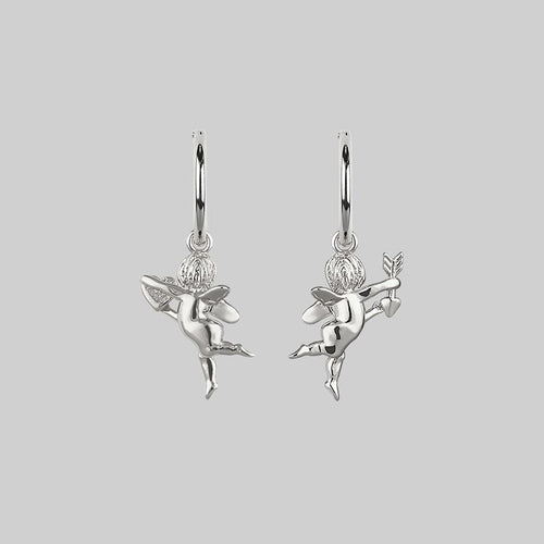 cherub-earrings-silver
