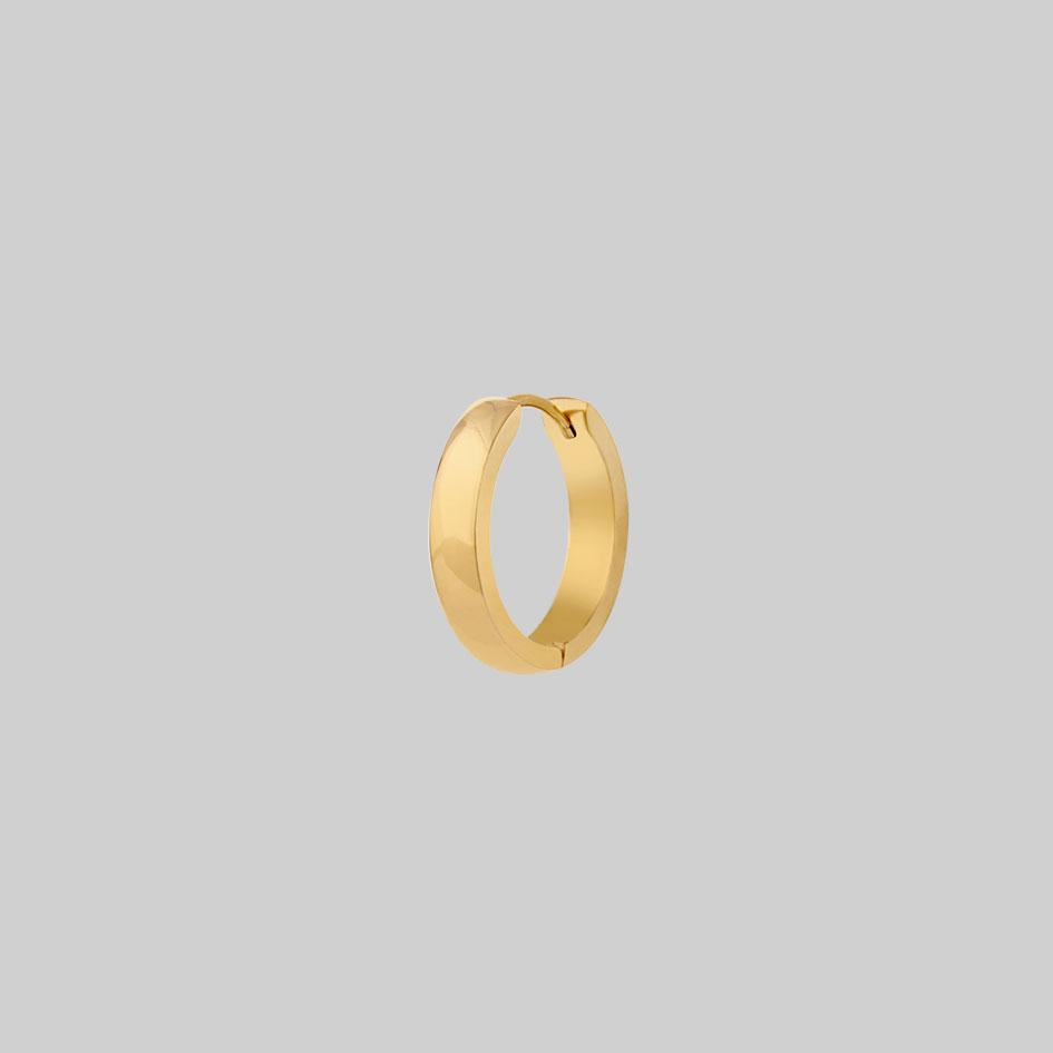 single gold hoop earring