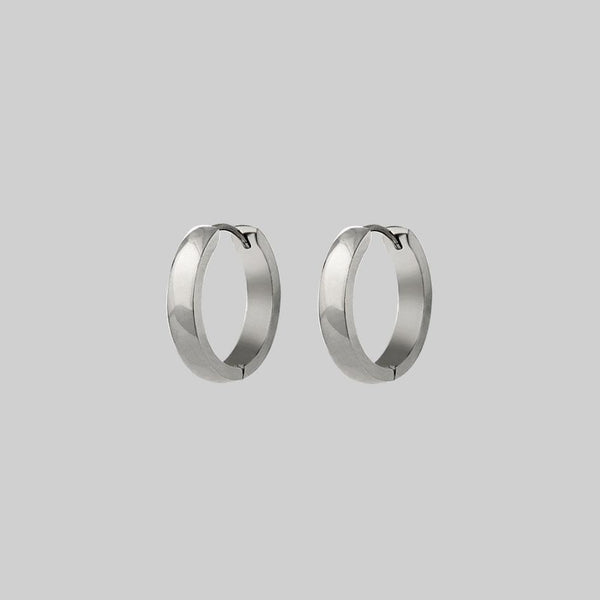 The Chunky Hoops - Silver