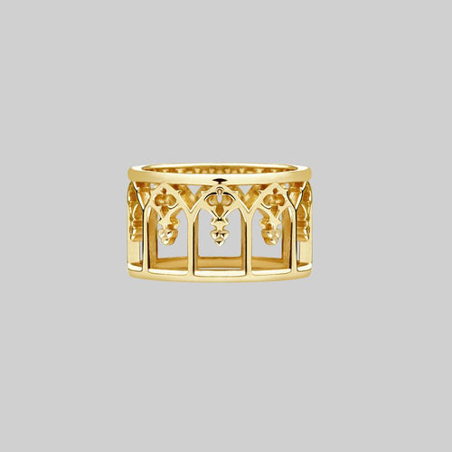 gothic window arches ring gold