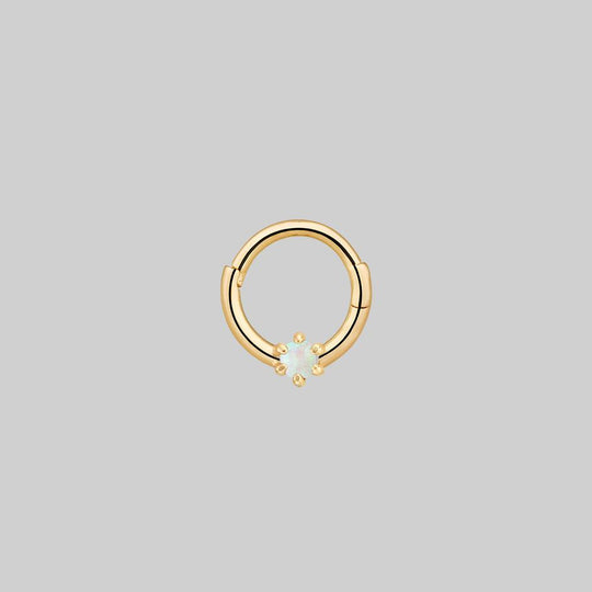 NEBULA. Opal Gold Clicker Ring - Septum