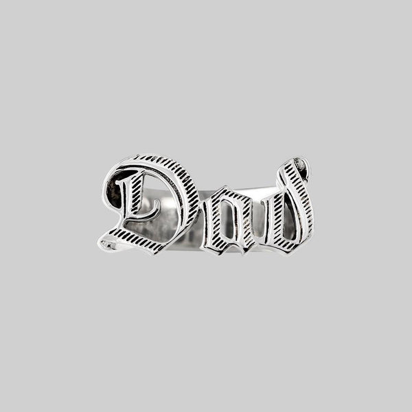 Dad Word Ring - Silver