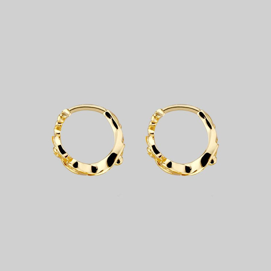 detailed gold clicker hoops