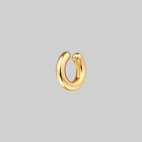 chunky smooth gold ear cuff