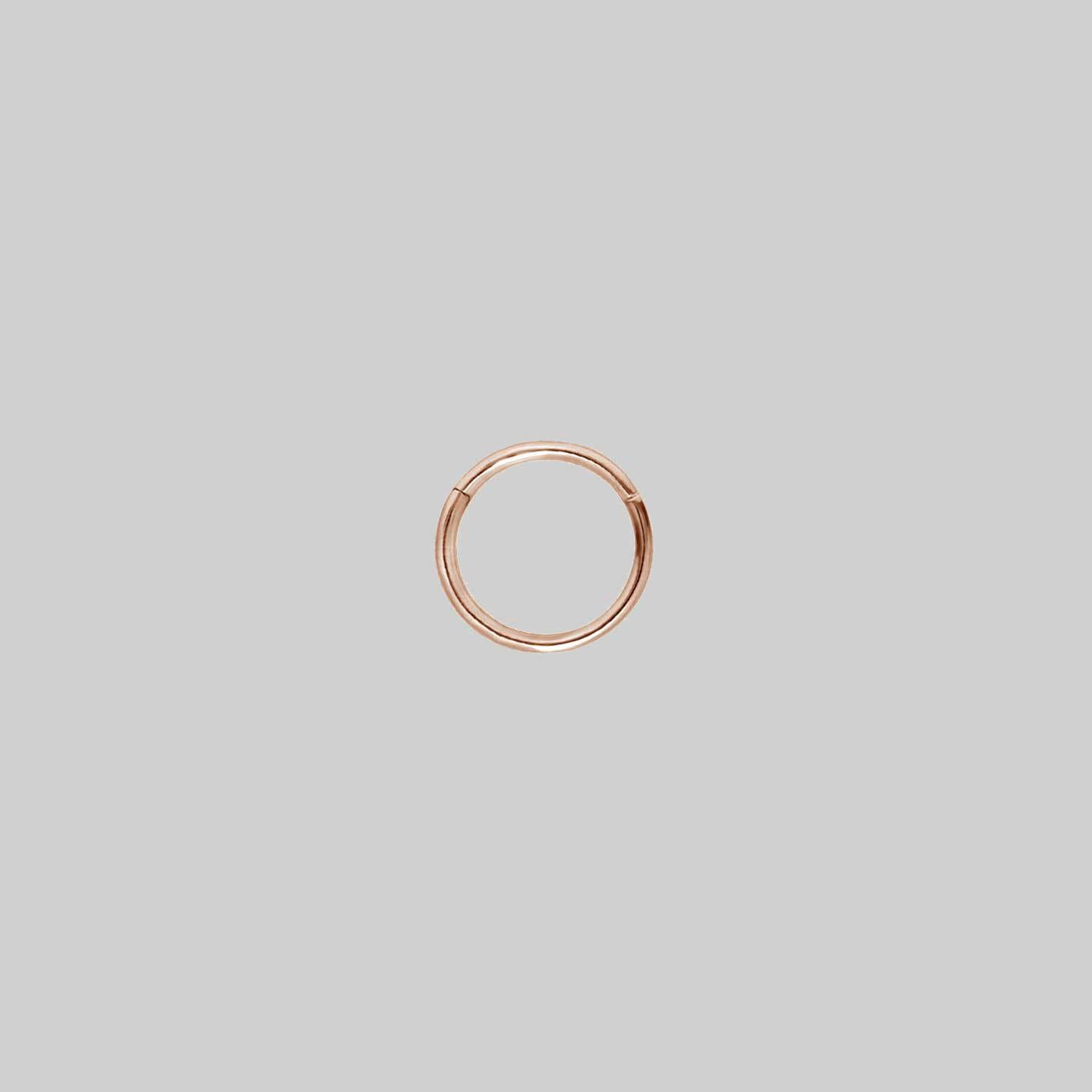 SANDY EXTRA MINI. Rose Gold Septum Clicker Ring
