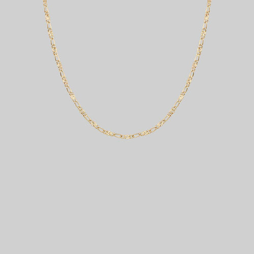 figaro sunburst gold chain necklace