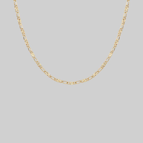 FAYE. Figaro Sunburst Chain - Gold