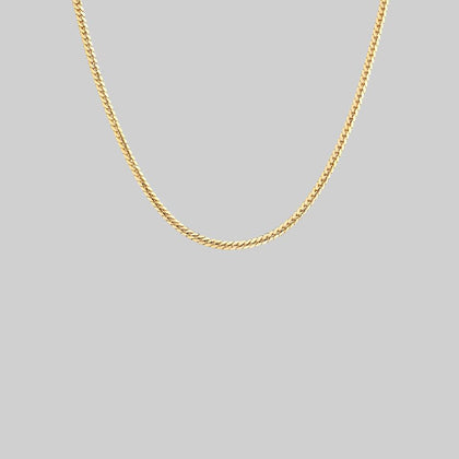 Fine Snake Chain Collar - Gold