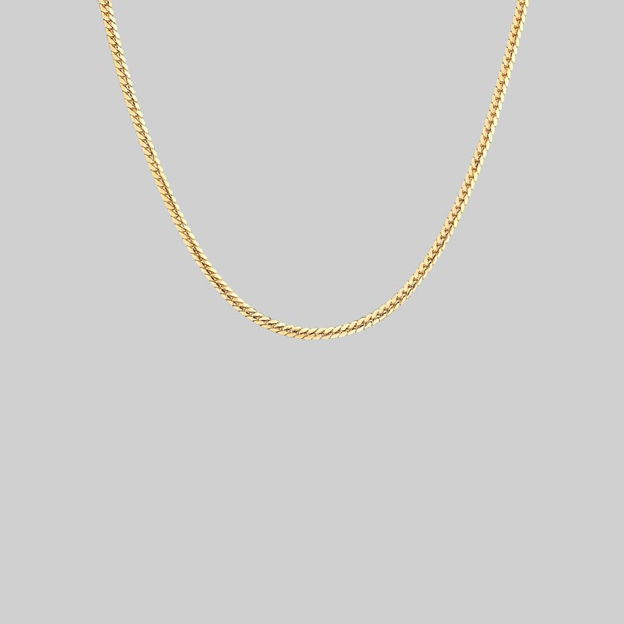 thin gold snake collar necklace