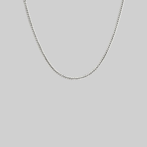 thin sterling silver snake collar necklace