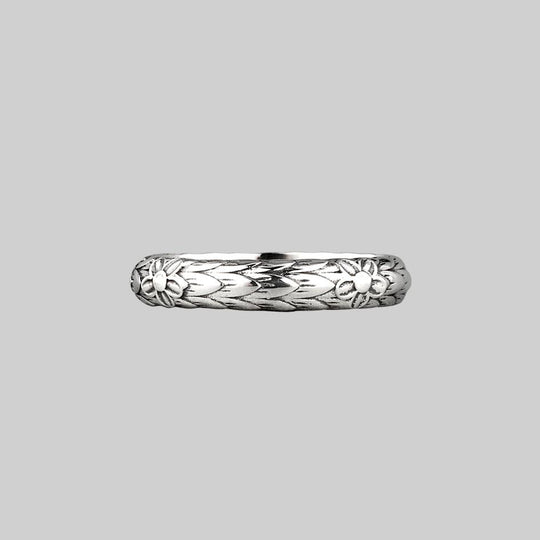 Forget Me Not Posie Ring - Silver