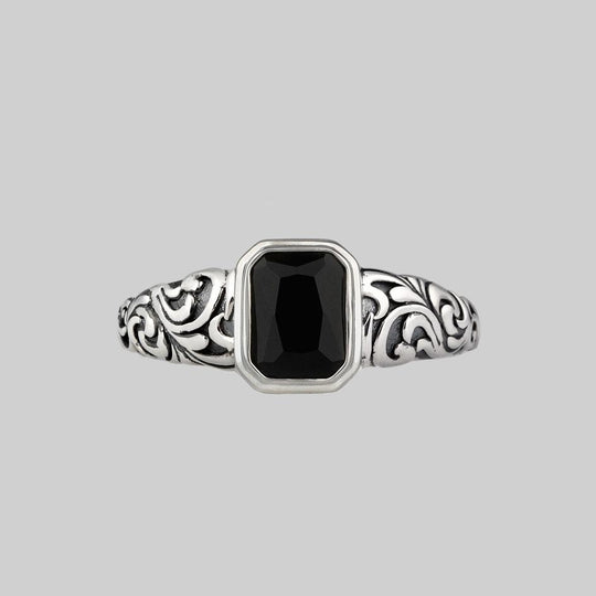 IN MEMORIAM. Onyx Ashes Cremation Ring