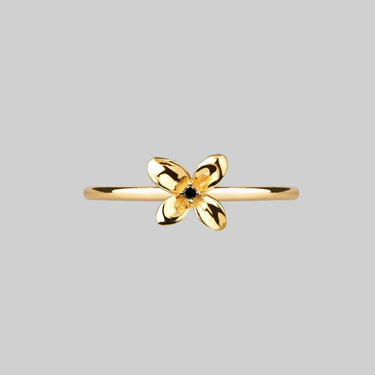 ISLA. Clematis Flower Ring - Gold