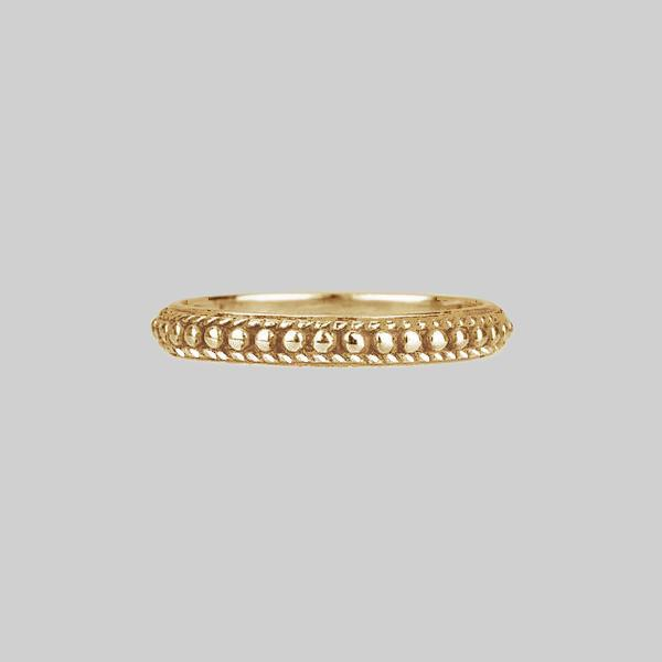 EAST. Dotted Band Ring - Gold