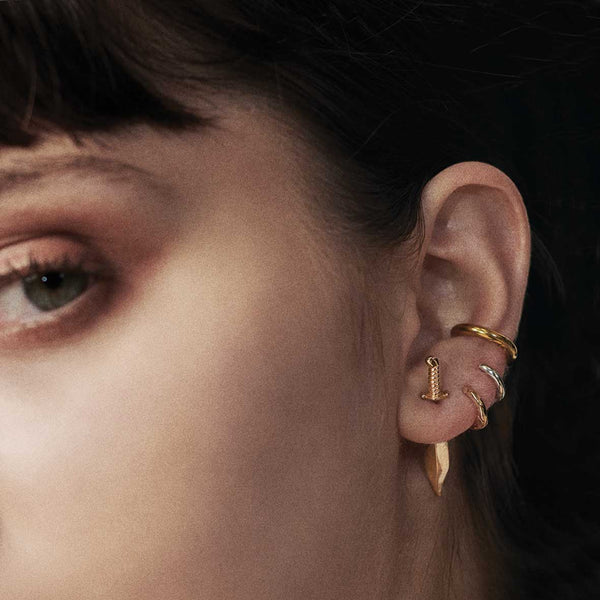 TORN. Knife Single Earring - Gold