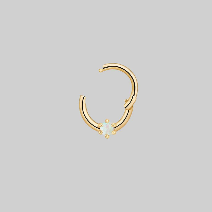 opal gemstone nose ring and daith body jewellery
