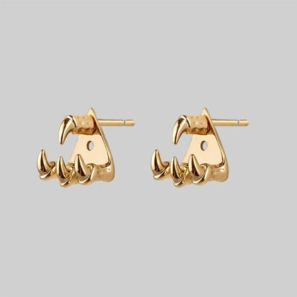 NASRA. Gold Claw Earring - Lobe/Helix