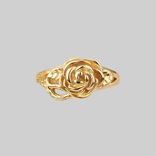 DEATHLY ROSE. Flourishing Rose Gold Ring