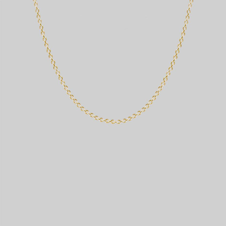 gold trace chain, fine simple necklace