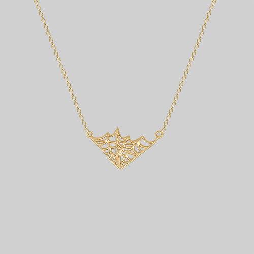 NARCISSA. Web Necklace - Silver
