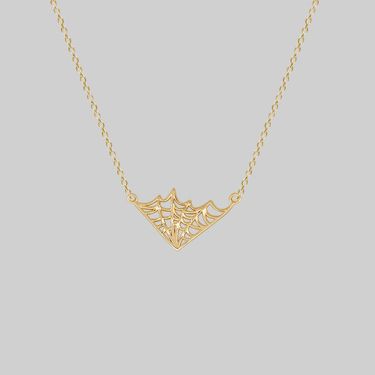 NARCISSA. Web Necklace - Gold