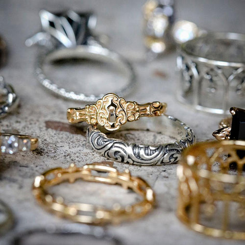 detailed mix metal jewellery