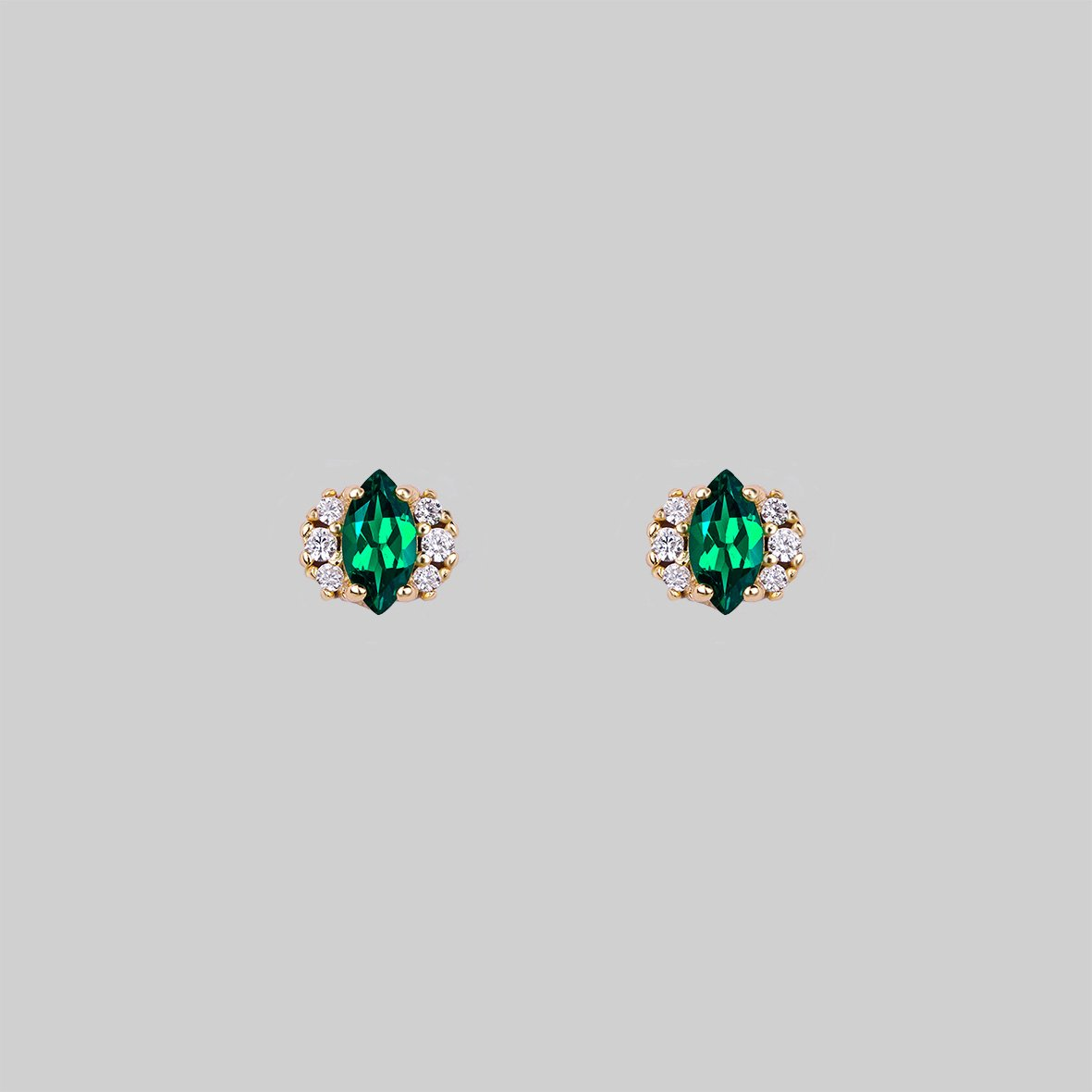 green quartz earring studs