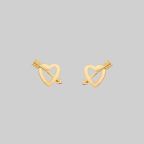 NARCISSA. Gold Web Stud Earring - Helix