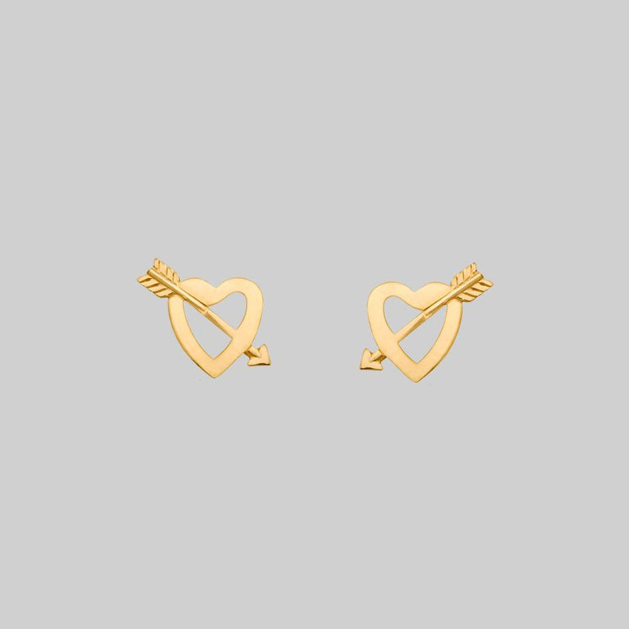 heart and arrow 9k gold studs