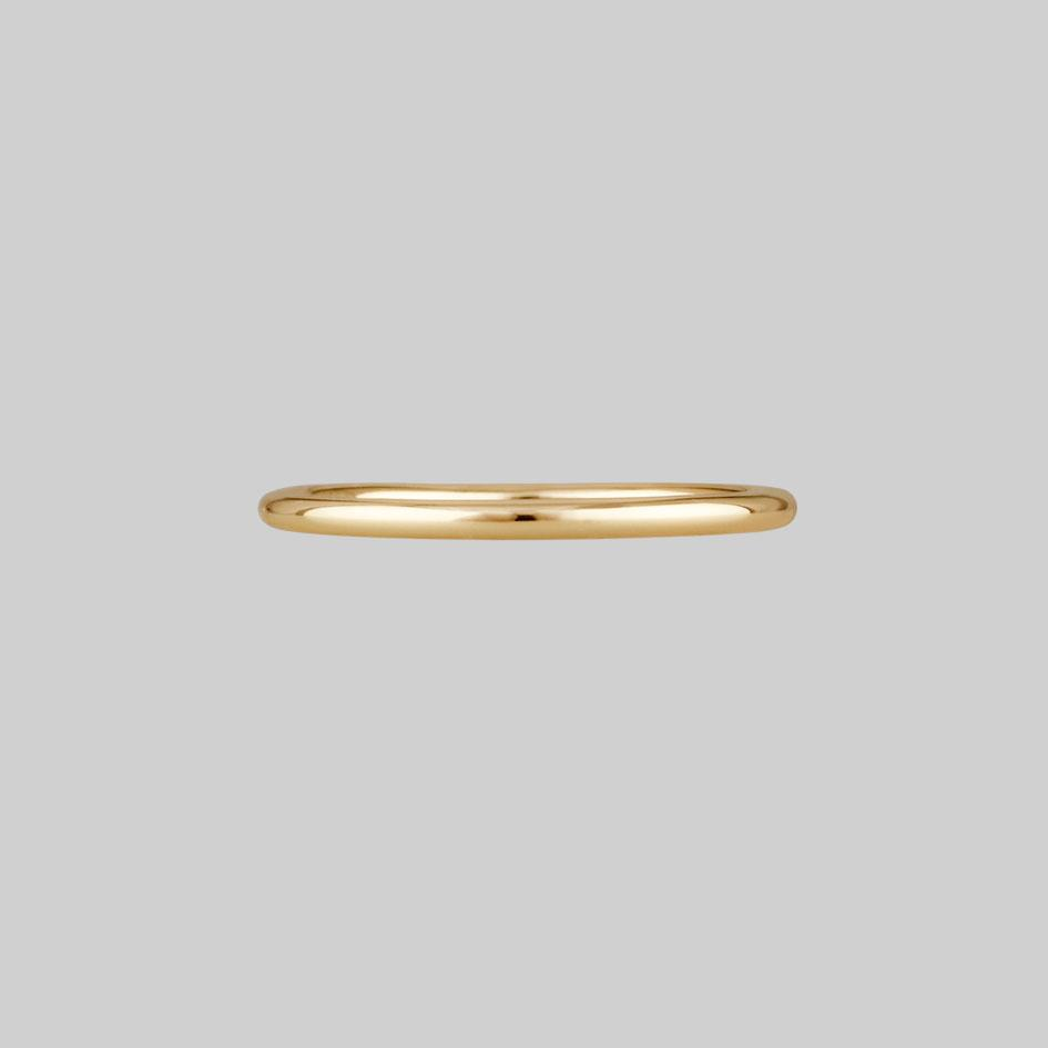gold simple band ring